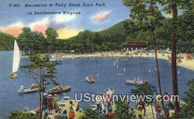 Fairy Stone State Park  - Virginia VA Postcard