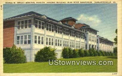 George Wright Memorial  - Charlottesville, Virginia VA Postcard