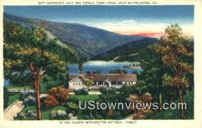 Sherando Lake And Forest Camp  - Waynesboro, Virginia VA Postcard