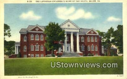 Lutheran Children's Home - Salem, Virginia VA Postcard