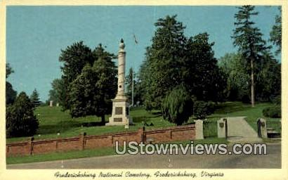 Fredericksburg National Cemetary  - Virginia VA Postcard