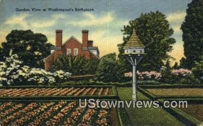 Washingtons Birthplace  - Potomac, Virginia VA Postcard