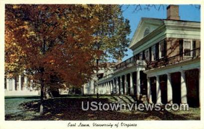 East Lawn University Of Virginia  - Charlottesville Postcard