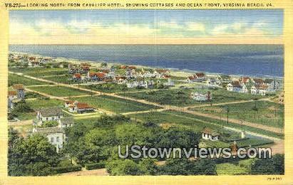 Cottages And Ocean Front  - Virginia Beach Postcards, Virginia VA Postcard