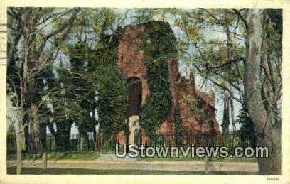Graveyard In Jamestown  - Virginia VA Postcard