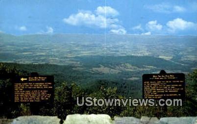 Stony Man Mountain Overlook  - Skyline Drive, Virginia VA Postcard