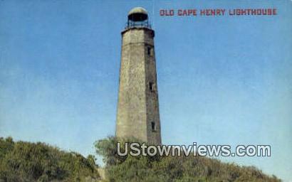 Old Cape Henry Lighthouse - Virginia Beach Postcards, Virginia VA Postcard