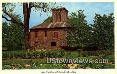 The Garden At Stratford Hall  - Virginia VA Postcard