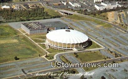 Aerial View Of University Hall  - Charlottesville, Virginia VA Postcard