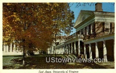 East Lawn University Of Virginia  - Charlottesville Postcard