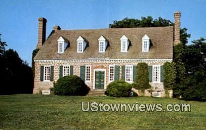 Front of Memorial Mansion - Washington's Birthplace, Virginia VA Postcard