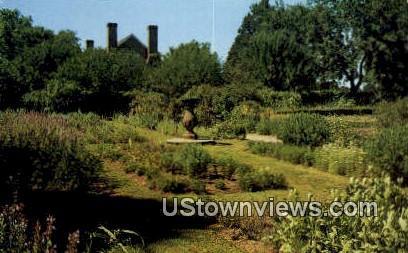 Colonial garden  - Westmoreland County, Virginia VA Postcard