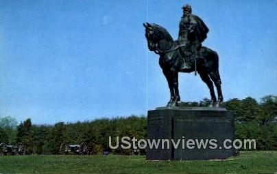 Statue Of Stone Wall Jackson  - Battlefield Park, Virginia VA Postcard