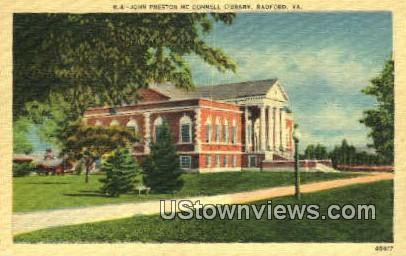 John Preston Mc Connell Library  - Radford, Virginia VA Postcard