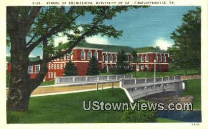 School of Engineering U of Virginia  - Charlottesville Postcard