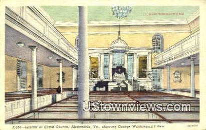 Interior Of Christ Church  - Alexandria, Virginia VA Postcard