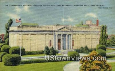 The Confederate Memorial Institute  - Richmond, Virginia VA Postcard