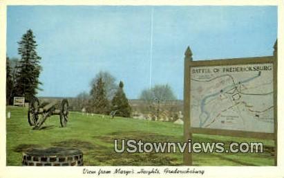 Maryes Heights  - Fredericksburg, Virginia VA Postcard