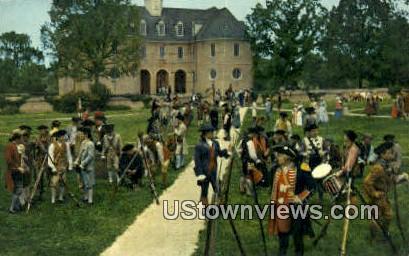 The Militia  - Williamsburg, Virginia VA Postcard