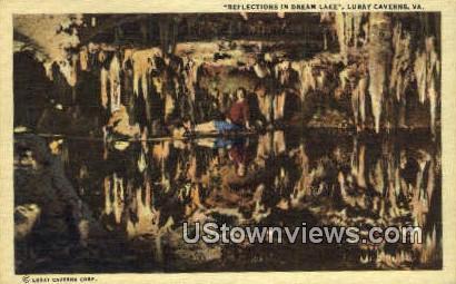 Reflections In Dream Lake  - Luray Caverns, Virginia VA Postcard