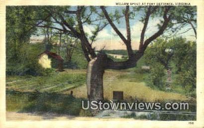 Willow Spout  - Fort Defiance, Virginia VA Postcard
