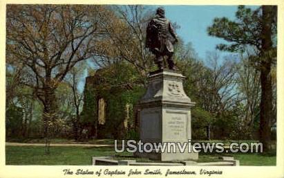 The Statue Of Captain John Smith  - Jamestown, Virginia VA Postcard
