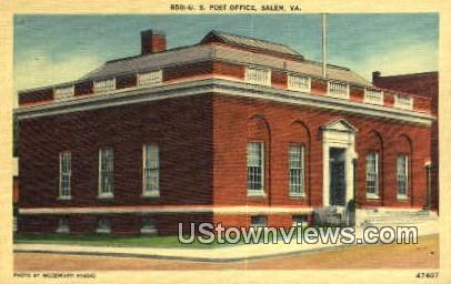 US Post Office  - Salem, Virginia VA Postcard