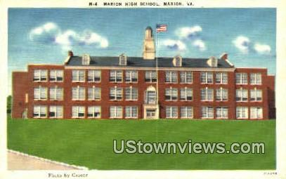 Marion High School  - Virginia VA Postcard