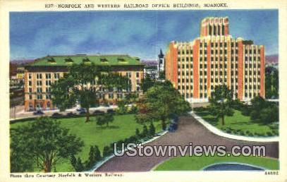 Norfolk & Western Railroad - Roanoke, Virginia VA Postcard