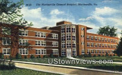The Martinsville General Hospital  - Virginia VA Postcard