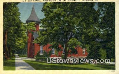 Lee Chapel Washington & Lee U - Lexington, Virginia VA Postcard