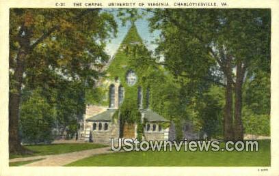 The Chapel University Of Virginia  - Charlottesville Postcard