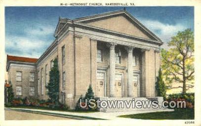 Methodist Church  - Martinsville, Virginia VA Postcard