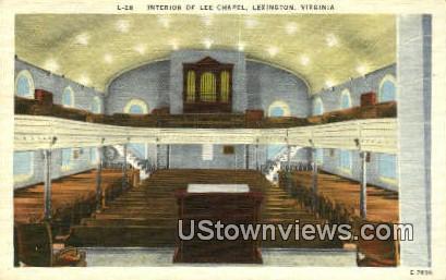 Interior Of Lee Chapel  - Lexington, Virginia VA Postcard