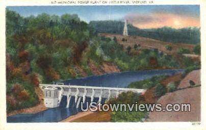 Municipal Power Plant Little River - Radford, Virginia VA Postcard