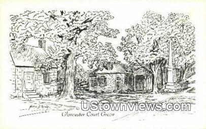 Gloucester Court Green, Virginia, VA, Postcard