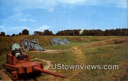 Grand French Battery  - Yorktown, Virginia VA Postcard