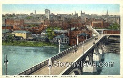 Williams Viaduct James River Lynch - Lynchburg, Virginia VA Postcard