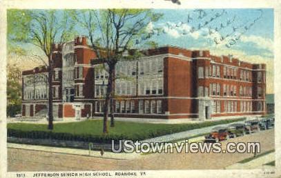 Jefferson Senior High School  - Roanoke, Virginia VA Postcard