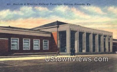 Norfolk & Western Railway Station  - Roanoke, Virginia VA Postcard
