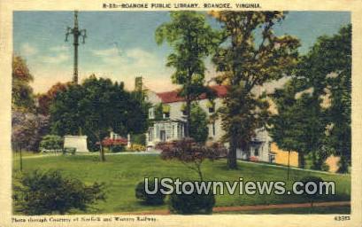 Public Library  - Roanoke, Virginia VA Postcard