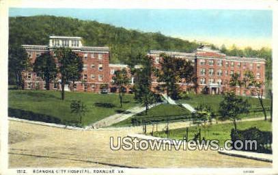 Roanoke City Hospital  - Virginia VA Postcard