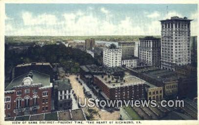 Heart Of Richmond - Virginia VA Postcard