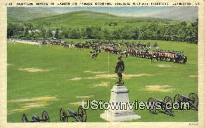 Garrison Review of Cadets - Lexington, Virginia VA Postcard