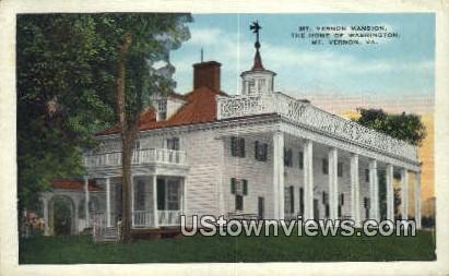 Home Of Washingtons  - Mount Vernon, Virginia VA Postcard