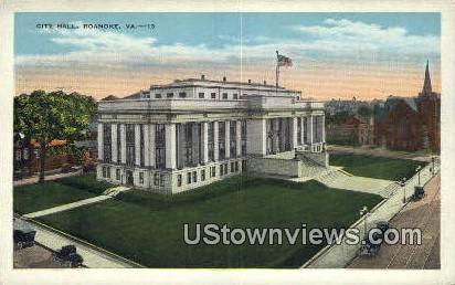 Stone Wall Jackson Monument  - Roanoke, Virginia VA Postcard