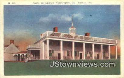 Home Of George Washingtons  - Mount Vernon, Virginia VA Postcard