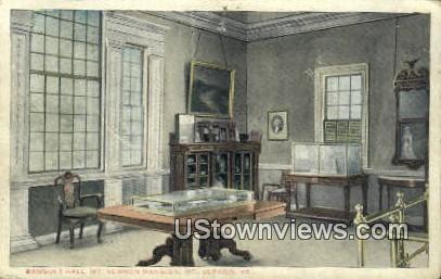 Banquet Hall  - Mount Vernon, Virginia VA Postcard
