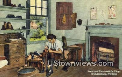 Boot And Shoemakers Shop  - Williamsburg, Virginia VA Postcard