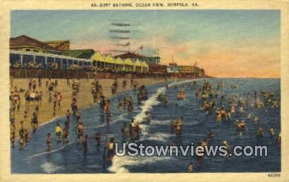 Surf Ocean View  - Norfolk, Virginia VA Postcard